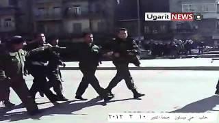 10 2 Aleppo أوغاريت حلب حي ميسلون , القبض على مواطن كان يكبر بصوت خافت ولوحده وضربه واهانته من قبل الأمن
