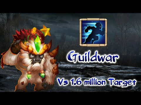 Guildwar With Sasquatch 😎😎😲😲 | Stelath Sas With Lazulix | 1.6 Million Target | Castle Clash