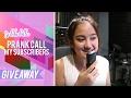 SALSHABILLA #VLOG - PRANK CALL MY SUBSCRIBERS (Pemenang Giveaway)