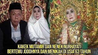 Kisah kakek Mutamir dan nenek Nurhayati menikah usia 63 tahun setelah jatuh cinta pandangan pertama