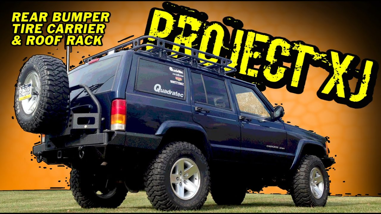 Project Xj Smittybilt Rear Bumper With Tire Carrier Youtube