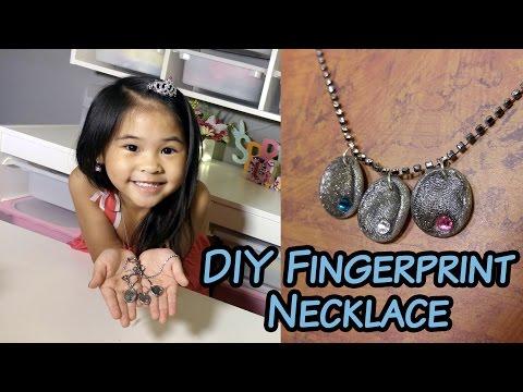 DIY Fingerprint Birthstone Necklace   Handmade Polymer Clay Fingerprint Jewelry Tutorial