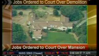 Jobs Order To Court Over Mansion - Bloomberg