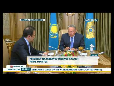 President Nazarbayev receives kazakh Prime minister