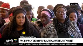 ANC Branch secretary Ralph Kanyane laid to rest