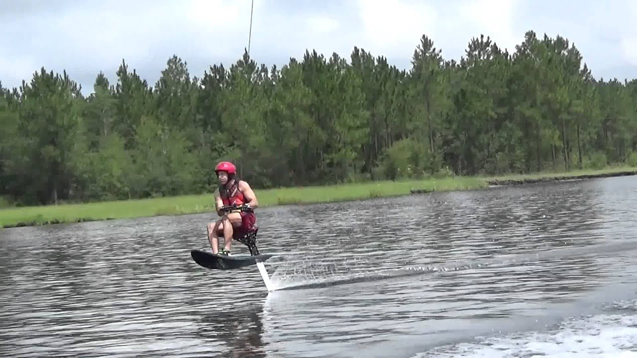 Gutsy air chair flip over dock mike murphy on hydrofoil waterskiing - New Foil Arc 40
