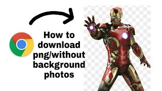 How to download png/without background images