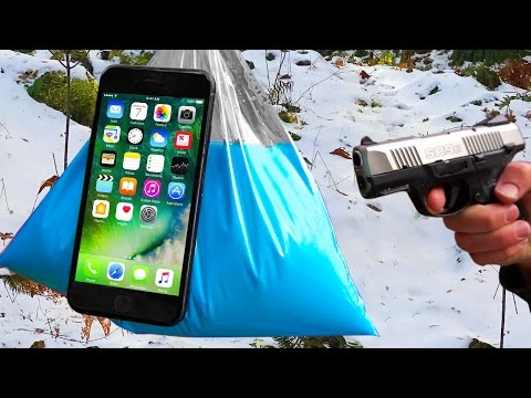 Thumbnail: Can Oobleck Protect an iPhone 7 from 9 mm Handgun? (Ruger SR9C)
