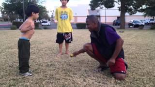 Intense Blindfolded Martial Arts Training