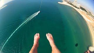 Parasailing above Marjan Island Ras al Khaimah Action Cam 4K