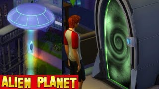 Sims 4 - ALIEN WORLD Scientist Level 10 Wormhole Generator Invention