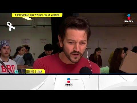 En vivo: Diego Luna desde el Centro de acopio  De Primera Mano  n Entretenimiento