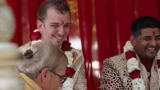Neil Singh + Eli Pew Wedding Highlights HD - Gay Hindu Indian American Wedding