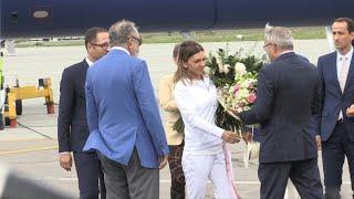 Halep arrives in Bucharest after Wimbledon triumph | AFP