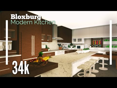 How To Make A Modern Kitchen In Welcome To Bloxburg Bloxburg Tutorials 1 Youtube