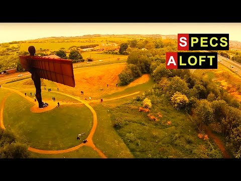HD Drone footage of the Angel of The North, Newcastle
