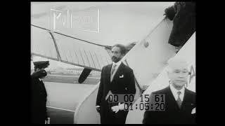 1956 Emperor Hirohito Greets Emperor Haile Selassie