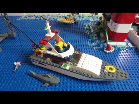 Lego city 4642 fishing boat review youtube for Fishing lego set