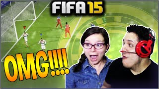 Omg!!! she scored the greatest goal! fifa 15 ultimate team