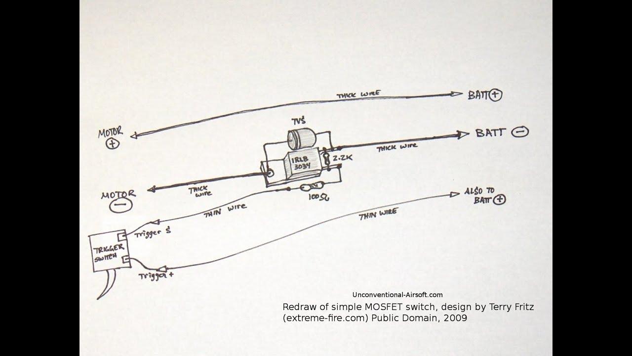 Basic Gun Diagram 2007 Dodge Caliber Wiring How To Make An Airsoft Mosfet Youtube