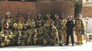 Riverside fire fighters, live-fire training (Riverside, CA)