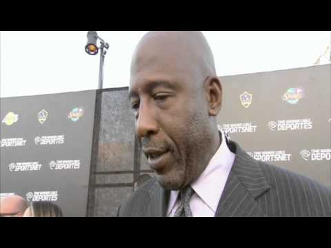 Former Laker and current Lakers studio analyst James Worthy on Time Warner Cable Sports network.