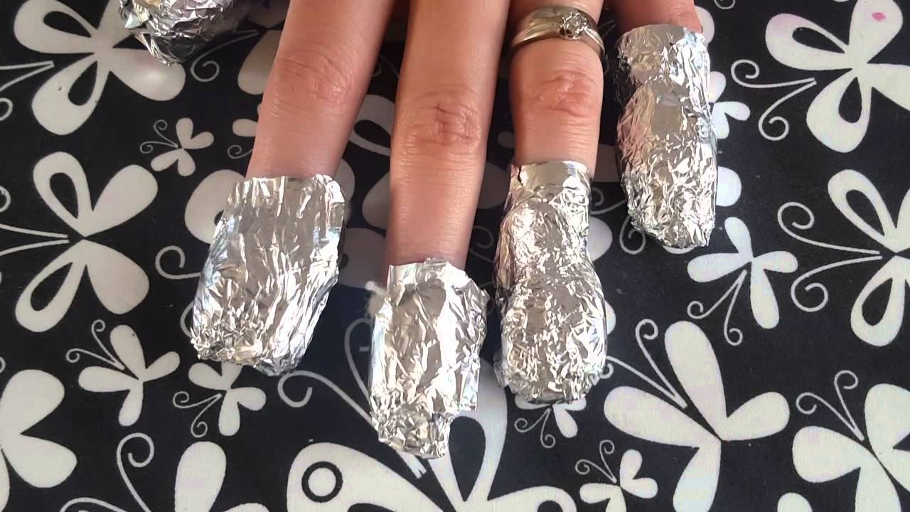 Nail art How to:- Remove EZ dip gel nails - YouTube