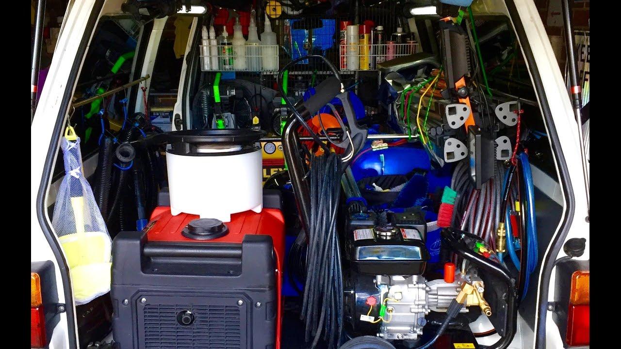Mobile Auto Garage Signs : My detailing van s setup youtube