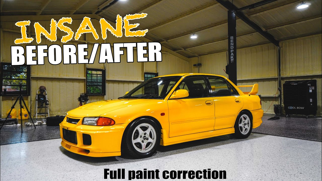 EVO III gets an INSANE Paint Correction! (CRAZY BEFORE & AFTER)