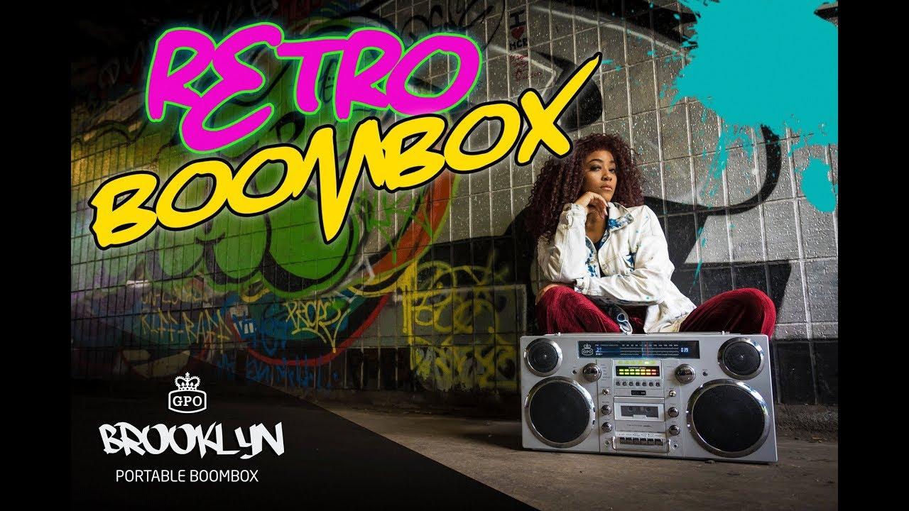 GPO Retro Brooklyn Portable Boombox - Bluetooth, DAB Radio, CD & Tape Player