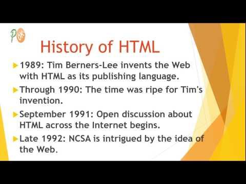 History Of HTML HTML HTML5 Tutorials Part2 - TutorialsHacks OK
