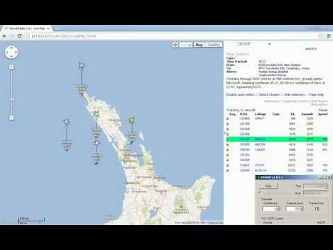 ADSB Virtual Air RADAR with RTL SDR (RTL2832), ADSB Sharp and Virtual Radar Server