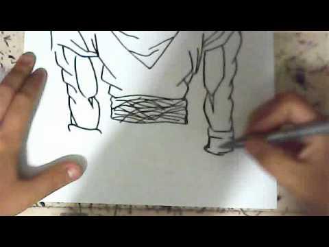 How To Draw Goku Super Saiyan 3 Full Body Youtube