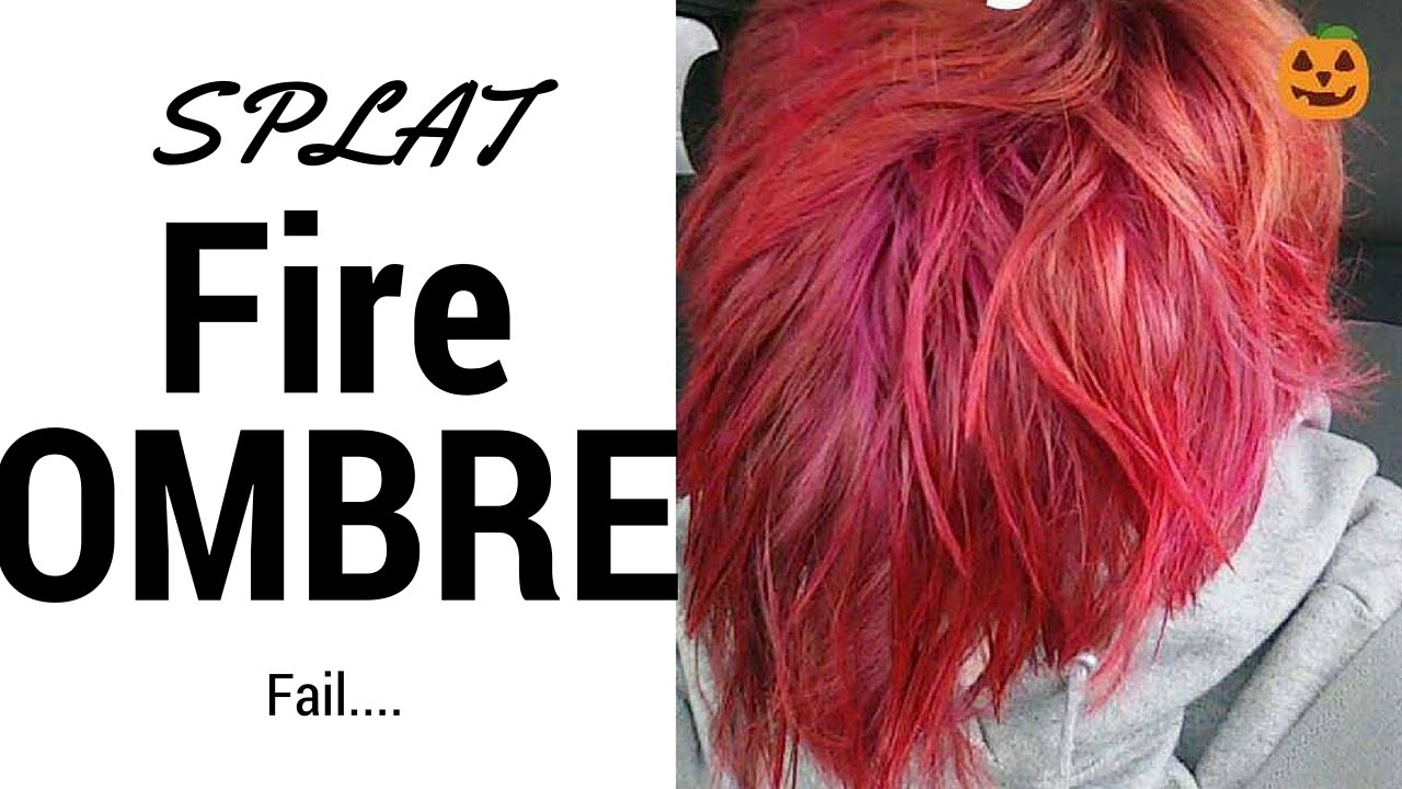 Dying My Hair Fire Ombre Splat Review