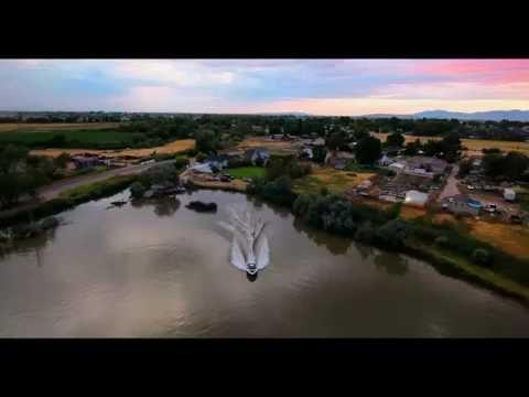 Waterski Slalom Course by Drone