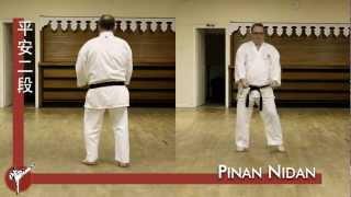 Pinan Nidan kata (Wado Ryu) — front and rear view