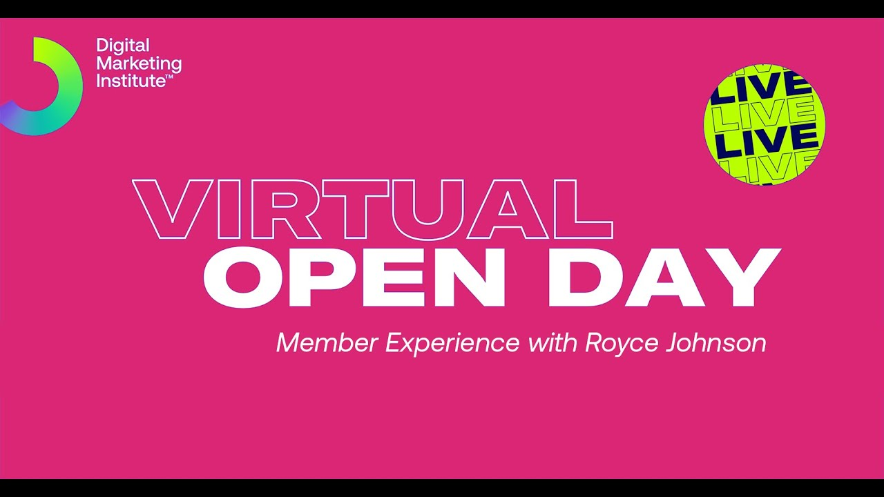 DMI September Virtual Open Day | Member Experience with Royce Johnson