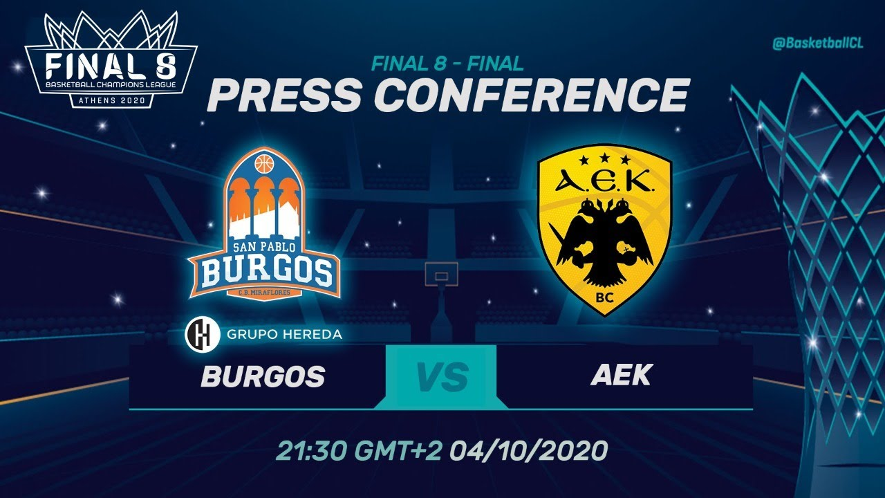 Hereda San Pablo Burgos v AEK - Press Conf. - Final - Basketball Champions League 2019