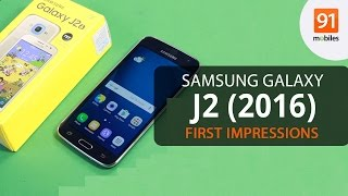 samsung galaxy j2 2016 unboxing and first look   hands on   price