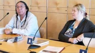Ernie LaPointe,der Urenkel von Sitting Bull,Pressekonferenz Buchmesse Leipzig 2011!