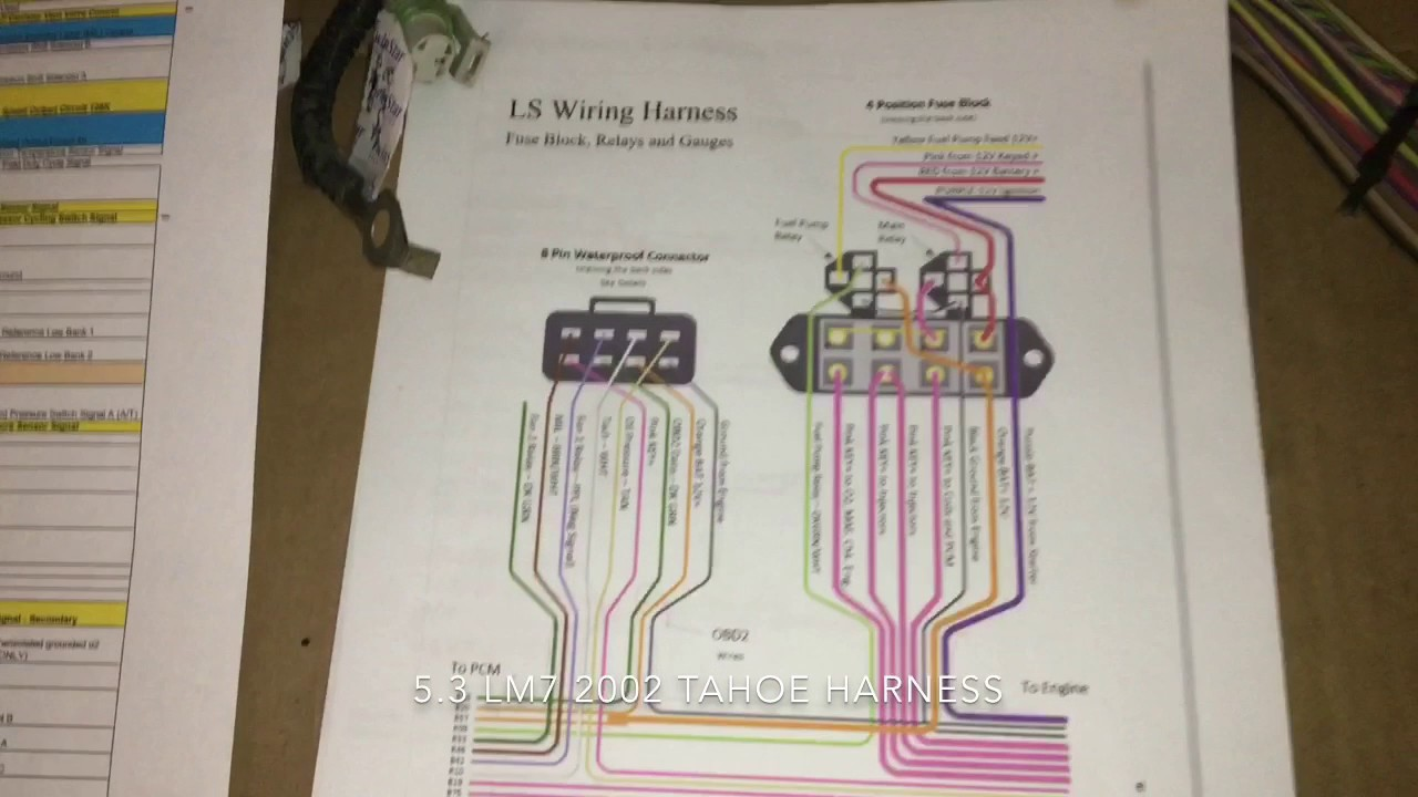 Ls Swap Wiring Harness Part 3 The Portal And Forum Of Diagram Conversion 5 Video 1 4 1978 Chevy Caprice Rh Youtube Com Ls1 Engine