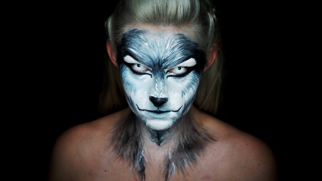 western werewolf halloween makeup tutorial youtube - Halloween Werewolf