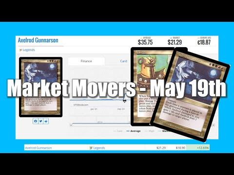 MTG Market Movers - May 19th - More Legends Buyouts! Stangg, and Axelrod Gunnarson Price jumps!