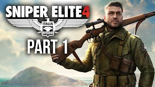 Sniper Elite 4 Walkthrough Part 1 - INTRO (Mission 1) 4K PS4 Pro Gameplay
