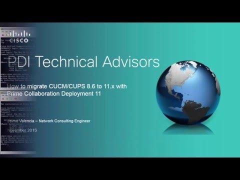 CUCM/CUPS 8.6 PCD Migration to CUCM/IM&P 11.0.x