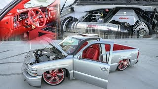 Video NOW THIS IS A SHOW TRUCK! CUSTOM INTERIOR, SUSPENSION 6.2 SWAP AND MORE! 2000 CHEVY SILVERADO! download MP3, 3GP, MP4, WEBM, AVI, FLV Juli 2018