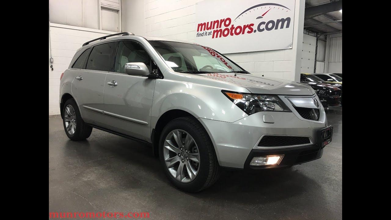 2011 acura mdx elite package sold silver interior sh awd munro motors