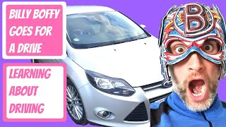 Billy goes for a drive - Learning about cars - The Boflet Show - Car Club - Learning for children