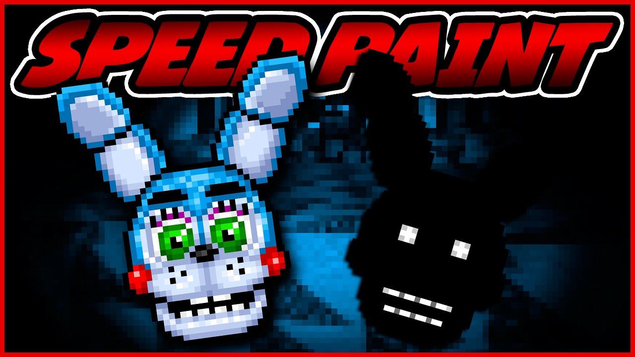 Adventure Toy Bonnie Speedpaint Fnaf World Pixel Art