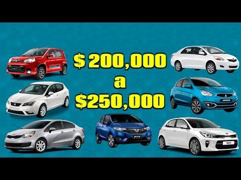 Los mejores autos de 200 a 250 mil Pesos | Tixuz Autos